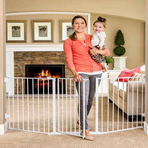 "Regalo Extra Wide Flexi Baby Gate, Fits Openings 28"" -76"" - *Special Order"