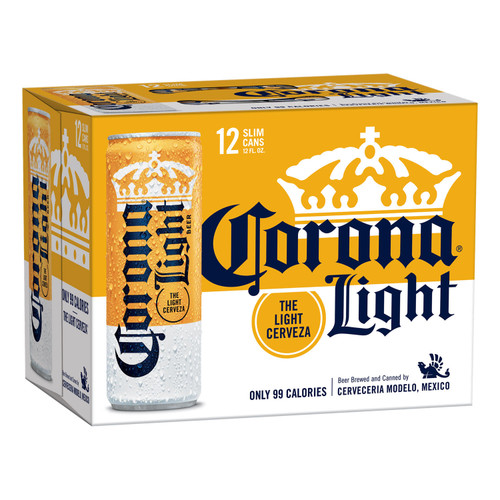 Corona Light Mexican Lager Beer (12 fl. oz.can, 12 pk.) - *Special Order