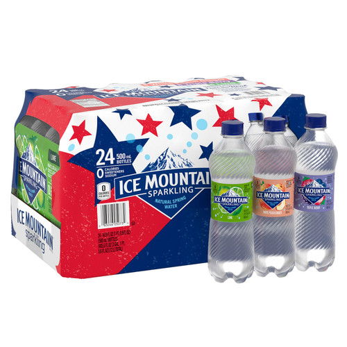 Ice Mountain Sparkling Spring Water Variety Pack (16.9oz / 24pk) - *Special Order