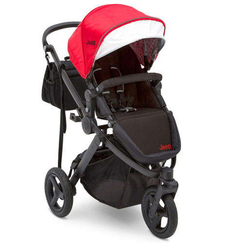 Jeep Sport Utility All-Terrain Jogger by Delta Children, Red/Black - *Special Order