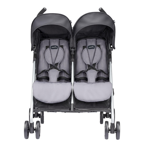 Evenflo Minno Twin Double Stroller, Glenbarr Gray - *Special Order
