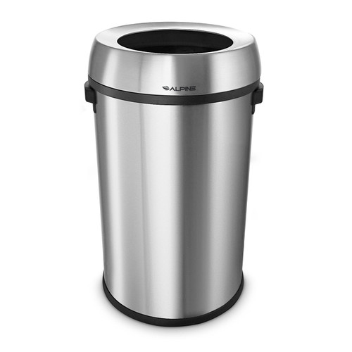 Alpine Industries 17-Gallon Stainless Steel Open Top Trash Can - *Special Order
