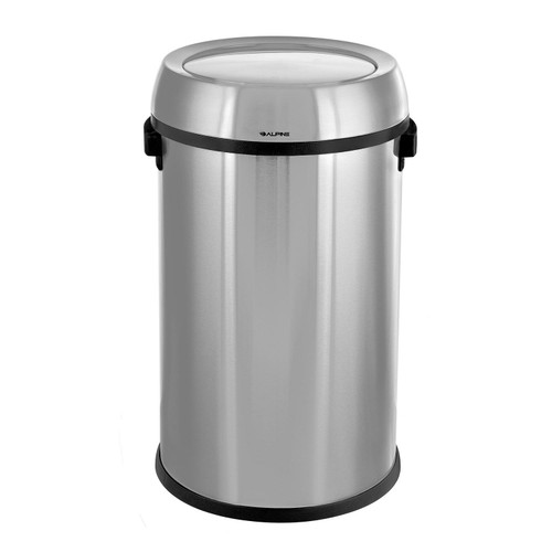 Alpine Industries 17-Gallon Stainless Steel Trash Can with Swing Lid - *Special Order