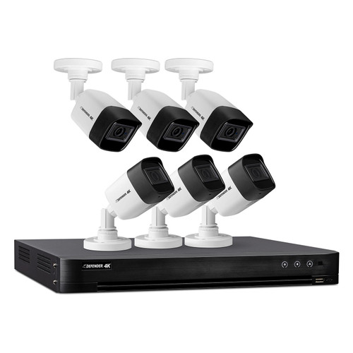 Defender Ultra HD 4K (8MP) 2TB Wired Security Camera System with 6 Night Vision Cameras - *Special Order