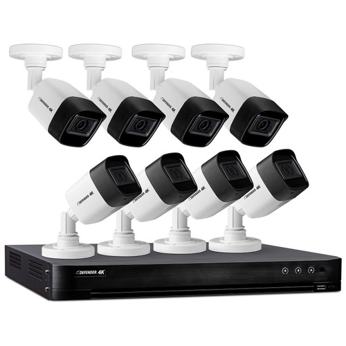 Defender Ultra HD 4K (8MP) 2TB Wired Security System with 8 Night Vision Cameras - *Special Order