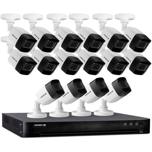 Defender Ultra HD 4K (8MP) 4TB Wired Security System with 16 Night Vision Cameras - *Special Order