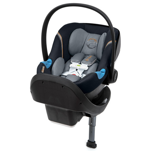 Cybex Aton M Infant Car Seat with SensorSafe and SafeLock Base, Pepper Black - *Special Order
