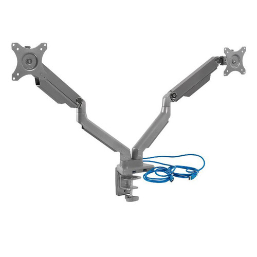 Mount-It! MI-102762 Dual Monitor Arm Mount Desk Stand 2 x 3.0 USB Ports - *Special Order
