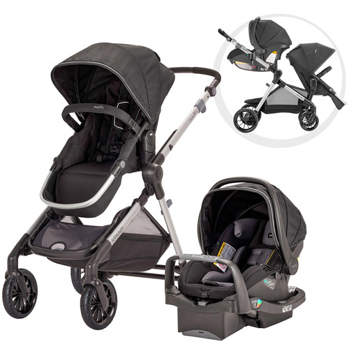 Evenflo Pivot Xpand Travel System with SafeMax Infant Car Seat (Choose Your Color) - *Special Order