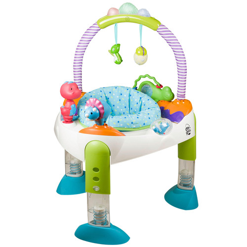 Evenflo Exersaucer Fast Fold and Go Activity Center, D is for Dino - *Special Order
