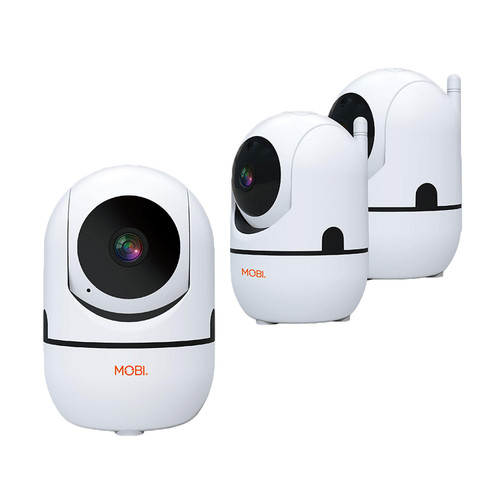 MobiCam HDX Smart HD Wi-Fi Pan and Tilt Home Monitoring Camera, 3-Pack - *Special Order