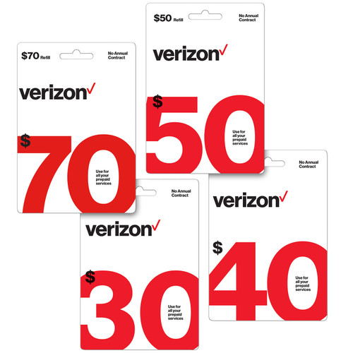 Verizon Refill eGift Card - Various Amounts (Email Delivery) - *Special Order