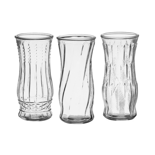 "8 1/2"" Rose Vase Assortment - Crystal (12 ct.) - *Special Order"