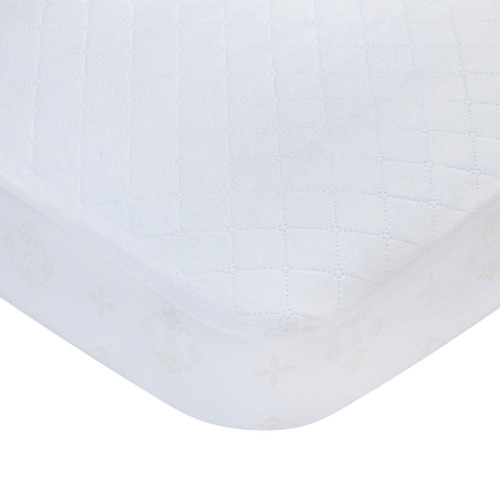 Carter's Fitted Crib Mattress Pad, White - *Special Order