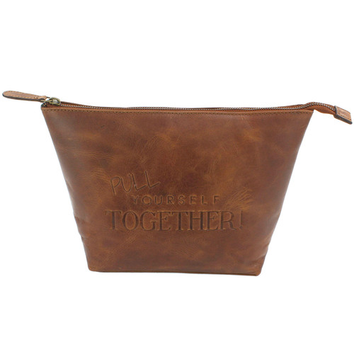 Ashby & Brant Pull Yourself Together Leather Wash Bag - *Special Order