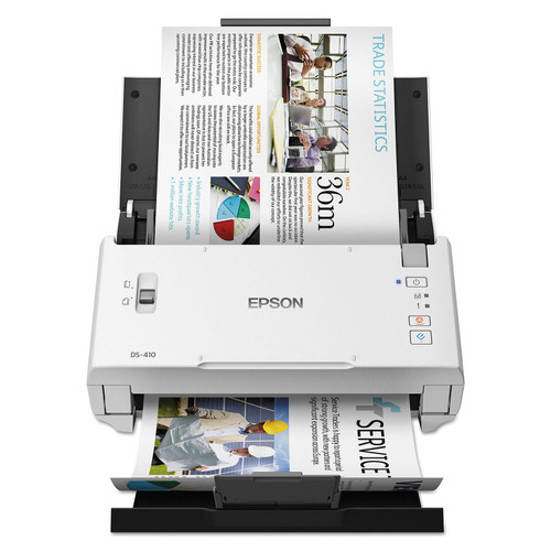 """Epson DS-410 Document Scanner, 1200 dpi, 8 1/2"""" x 120"""", 26 ppm - *Special Order"""