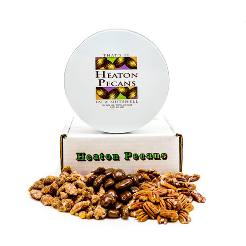 Heaton Pecans, Chocolate-Covered, Oven Roasted/ Salted, and Praline - *Special Order