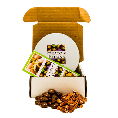 Heaton Pecans, Chocolate-Covered and Oven Roasted/Salted - *Special Order