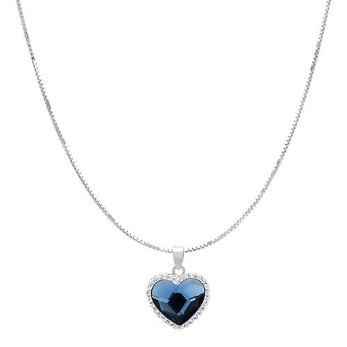 Swarovski Crystal Heart Pendant in Sterling Silver - *Special Order