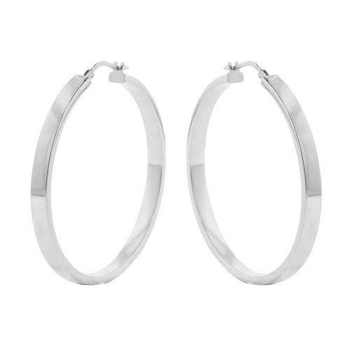 Italian Sterling Silver High Polish Hoop Earrings - *Special Order