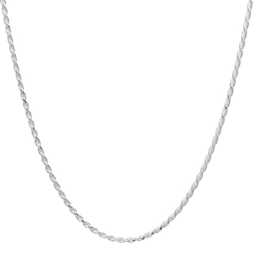 Italian Sterling Silver Diamond Cut Rope Chain - *Special Order