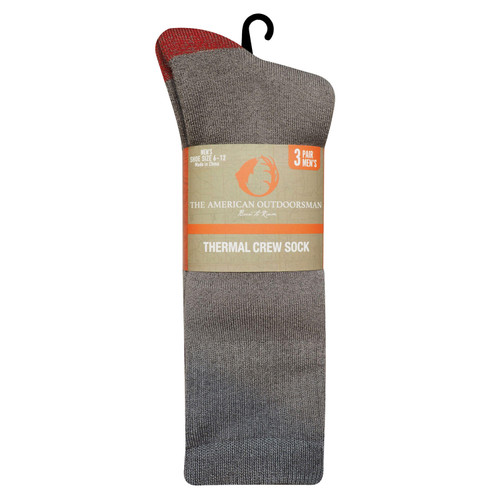 American Outdoorsman Men's Brushed Acrylic Thermal Crew Socks - *Special Order