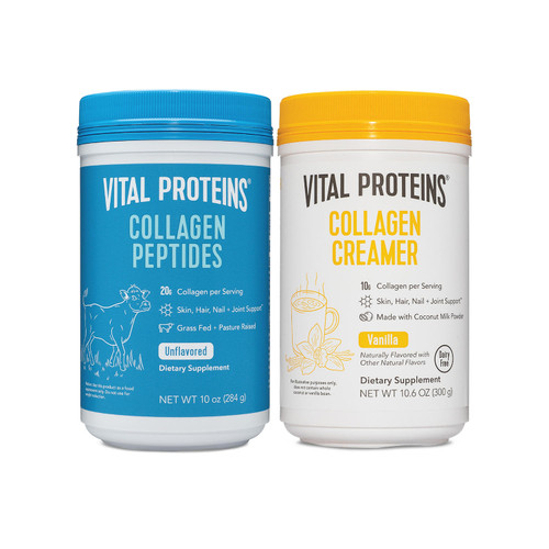 Vital Proteins Collagen Peptides 10oz and Collagen Cream Vanilla 10.3oz bundle (2 pk) - *Special Order