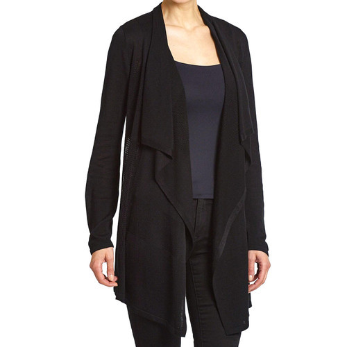 Premise Women's Long Sleeve Open Front Drape Cardigan - *Special Order