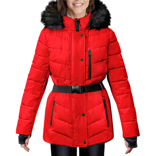 London Fog Women's Belted Puffer Jacket - *Special Order
