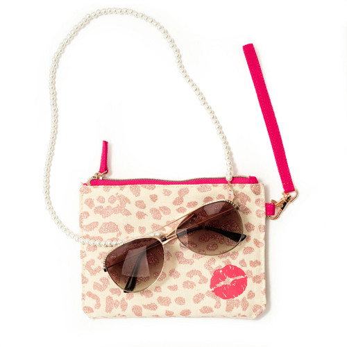 Betsey Johnson Rose Gold Aviator Rx-able Sunglasses with Accessories - *Special Order