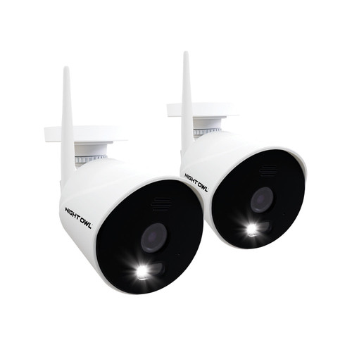 Night Owl 1080p HD Wi-Fi IP Cameras with Built-In Spotlights (2-Pack) - *Special Order