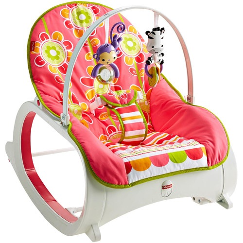 Fisher-Price Infant-to-Toddler Rocker, Floral Confetti - *Special Order