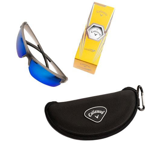 Callaway Polarized Blue Lens, Semi-Rimless Sunglasses with Accessories - *Special Order