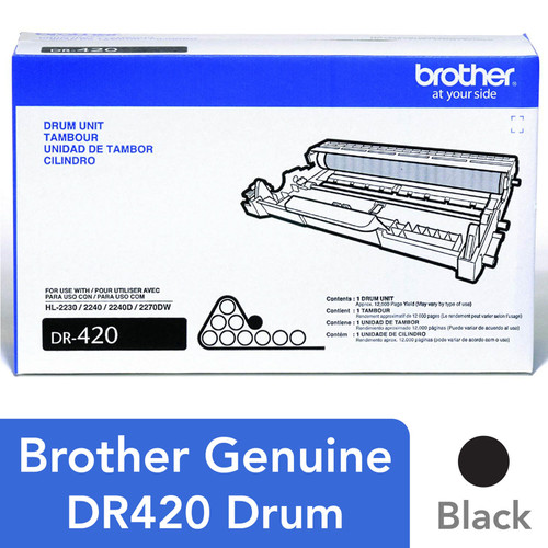 Brother DR-420 Drum Unit, Black (12,000 Page Yield) - *Special Order