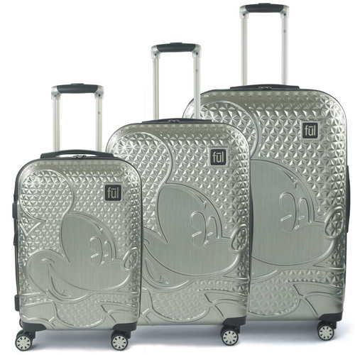 FUL Ac DISNEY Textured Mickey Hard Sided 3 Piece Luggage Set - *Special Order