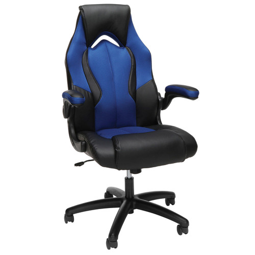 Essentials by OFM ESS-3086 High-Back Racing Style Leather Gaming Chair, Choose a Color - *Special Order