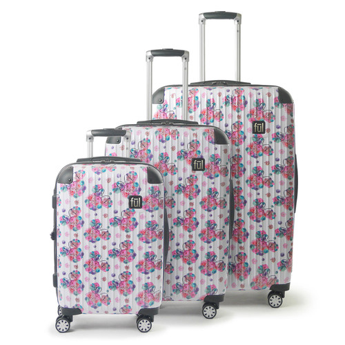 FUL Disney Minnie Mouse Floral Hardsided Rolling Luggage 3 Piece Set - *Special Order
