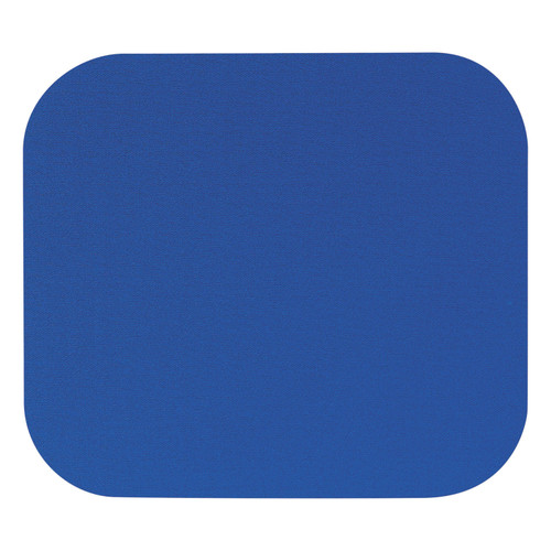 Fellowes - Polyester Mouse Pad, Nonskid Rubber Base, 9 x 8 - Blue - *Special Order