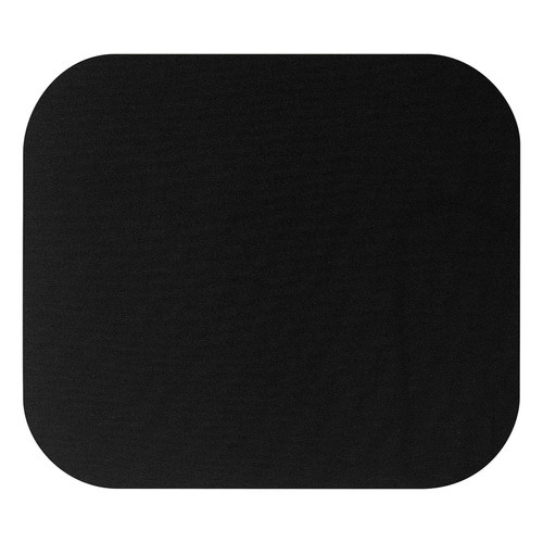Fellowes - Polyester Mouse Pad, Nonskid Rubber Base, 9 x 8 - Black - *Special Order