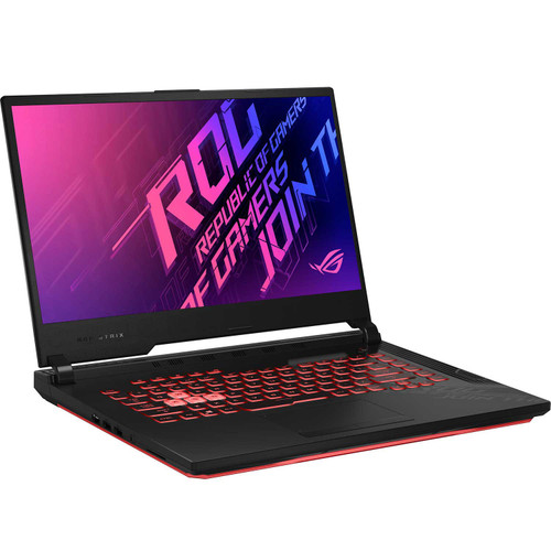 """ASUS - ROG Strix G15 - 15.6"""" Full HD Gaming Laptop - 10th Gen Intel Core i7 - 16GB Memory - 512GB Solid State Drive - NVIDIA GeForce GTX 1650Ti - Backlit RGB Keyboard - 2 Year Warranty Care Pack - Windows 10 Home - *Special Order"""