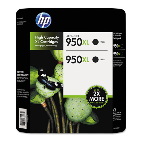HP 950XL High Yield Original Ink Cartridge, Black (2 pk., 2,300 Page Yield) - *Special Order