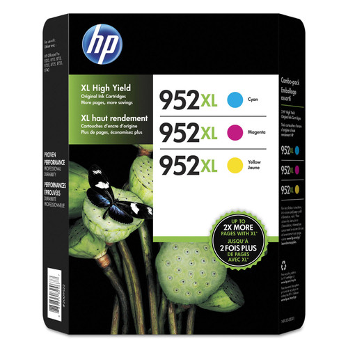 HP 952XL High Yield Original Ink Cartridges, Cyan/Magenta/Yellow, 3 Pack - *Special Order