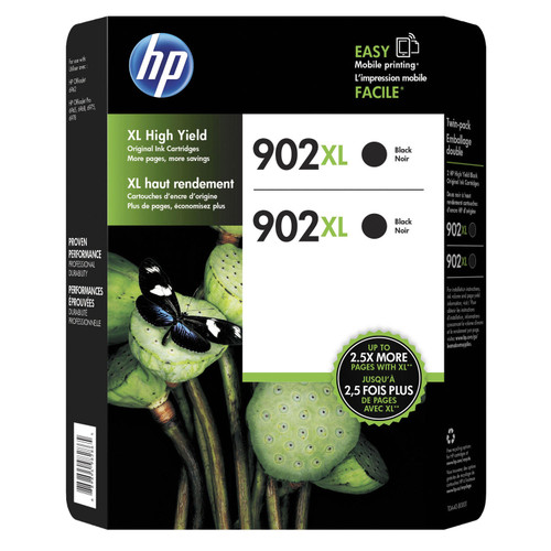 HP 902XL High-Yield Original Ink Cartridge, Black (2 pk.) - *Special Order