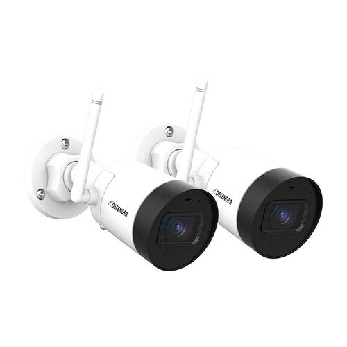 Defender Guard 4 Megapixel (2K) Resolution IP Cameras with Audio Recording and No Monthly Fees (2 Pack) - *Special Order