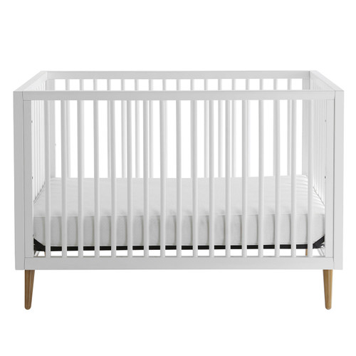 Kolcraft Roscoe 3-in-1 Standard Crib, White and Maple Finish - *Special Order