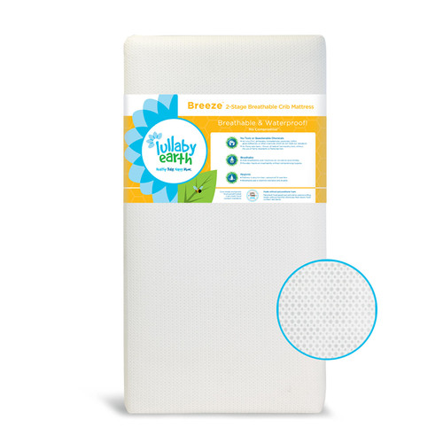 "Lullaby Earth ""Breeze"" Breathable 2-Stage Baby Crib and Toddler Mattress - *Special Order"