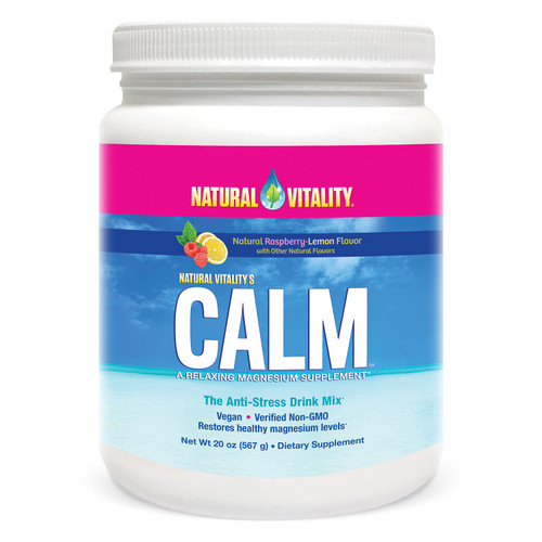 Natural Vitality Calm, The Anti-Stress Dietary Supplement Powder, Raspberry Lemon (20 oz.) - *Special Order