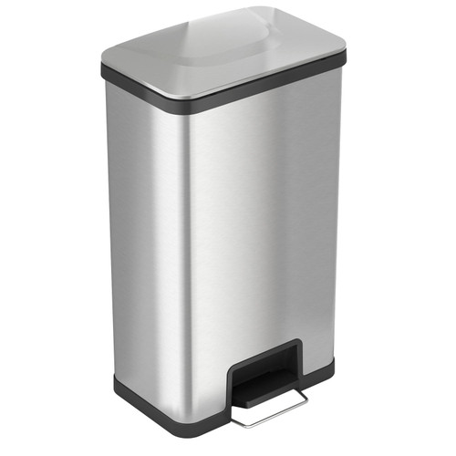iTouchless AirStep 18 Gallon Step-On Kitchen Stainless Steel, Trash Can with Odor Control System, Silent and Gentle Lid Close - *Special Order