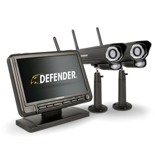 DefenderAr PHOENIXM2 Digital Wireless Security System with 7âÇ¥ LCD Monitor and 2 Long Range Night Vision Cameras - *Special Order