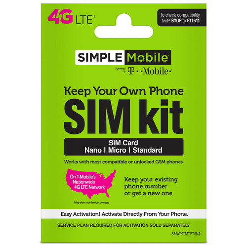 Simple Mobile Keep Your Own Phone Sim Kit - *Special Order